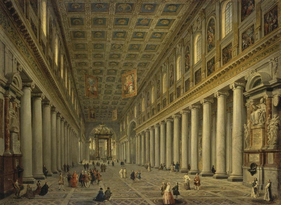 Interior of S. Maria Maggore in Rome