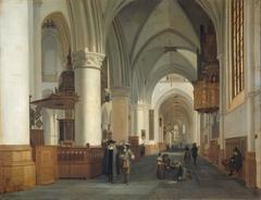 Interior of the church of St. Bavo, Haarlem