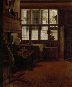 Interior with Woman at the Spinning Wheel