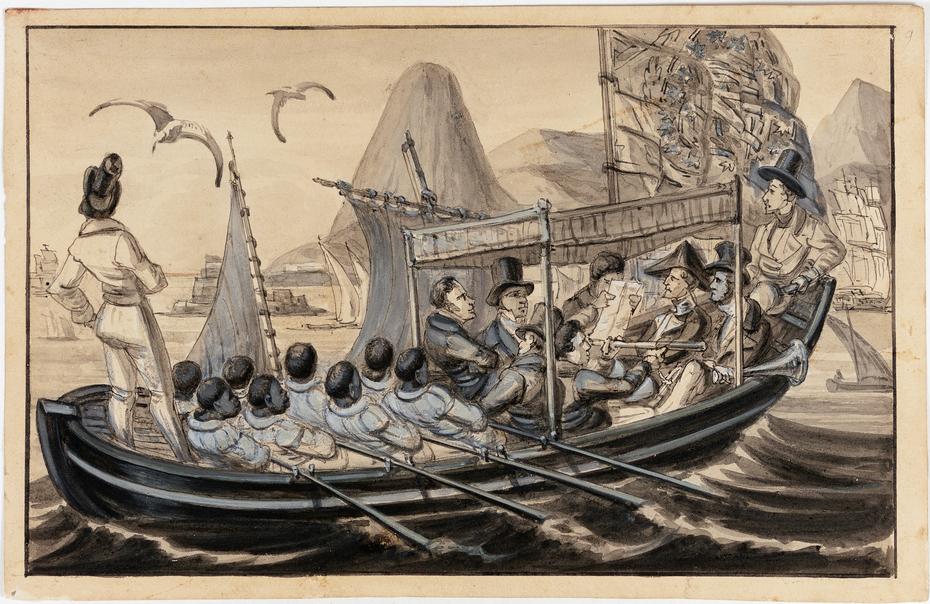 La barque de Guarda Mor (Capitaine du Port) de Rio Janeiro