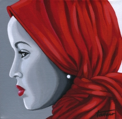 Lady in a Red Scarf