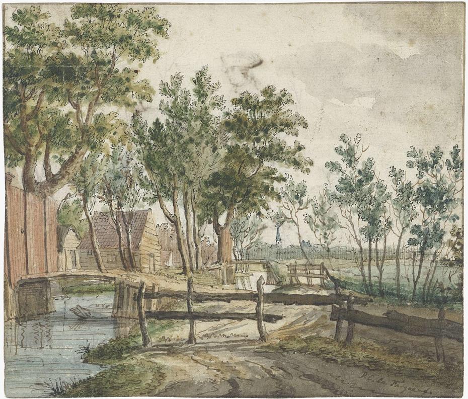 Landelijk vaart bij Voorburg