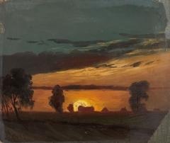 Landscape in Sunset