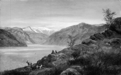 Landscape Study. Kroken at Sogn, Norway