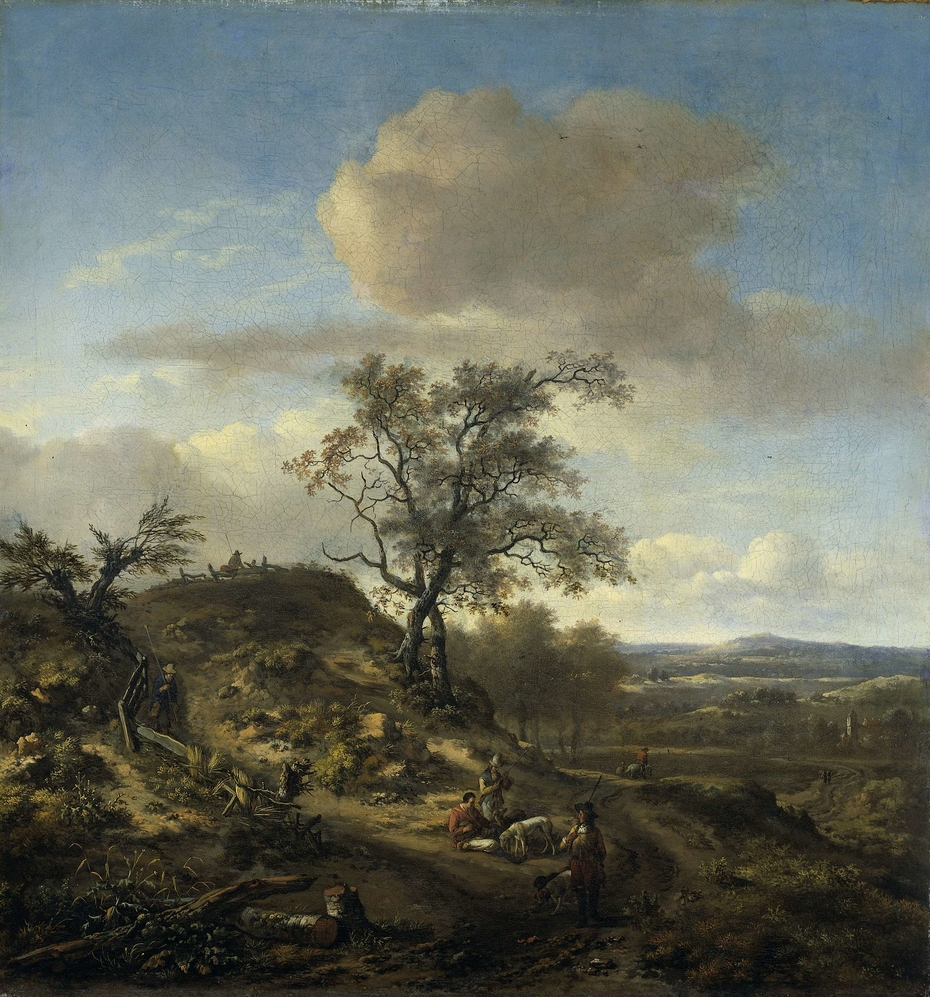 Landscape with a Hunter and other Figures