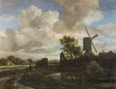 Landscape with a Windmill in the Evening