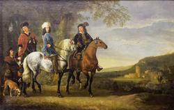 Landscape with three Horsemen