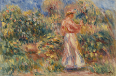 Landscape with Woman in Pink and White (Paysage avec femme en rose et blanc)