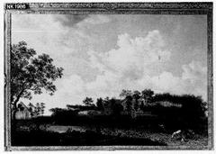 Landschap met een landhuis
