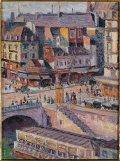Le pont Saint-Michel et le quai des Orfèvres vers 1905