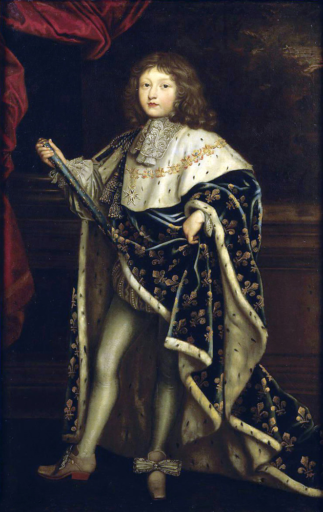 Louis XIV child in Coronation Robes