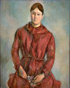 Madame Cézanne in a Red Dress
