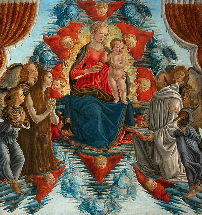 Madonna and Child with St. Mary Magdalene, St. Bernard, Angels, Cherubim and Seraphim