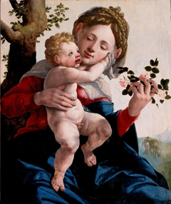 Madonna met wilde rozen