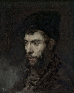 Man in a Beret looking Left