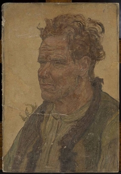 Man with unkempt hair