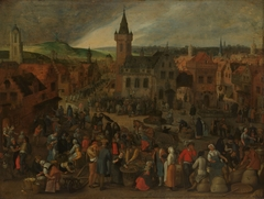 Market day in a Flemish town