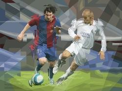 """""""Messi y Cannavaro"""" (serie: Tacos de Acero)"""
