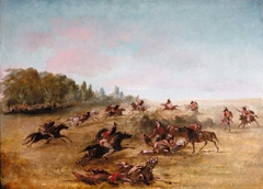 Mounted War Party Scouring a Thicket