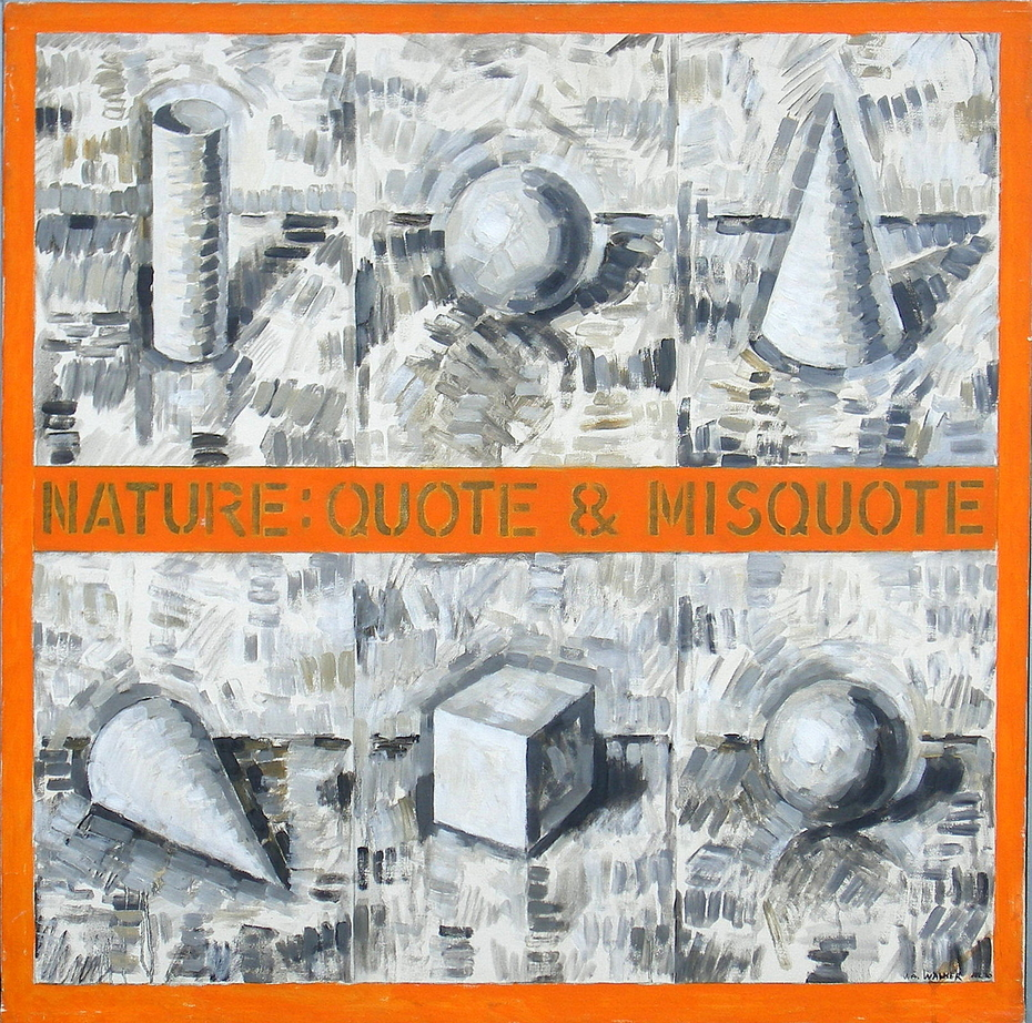 'Nature: Quote and Misquote', (1970) oil on canvas, 30 x 30 inches
