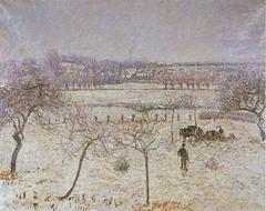 Neige et givre à Éragny
