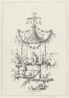 Ornamentale compositie in chinoiserie-stijl