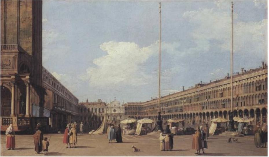 Piazza di San Marco, looking towards the Church of San Geminiano