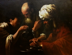 Pilate washing his hands