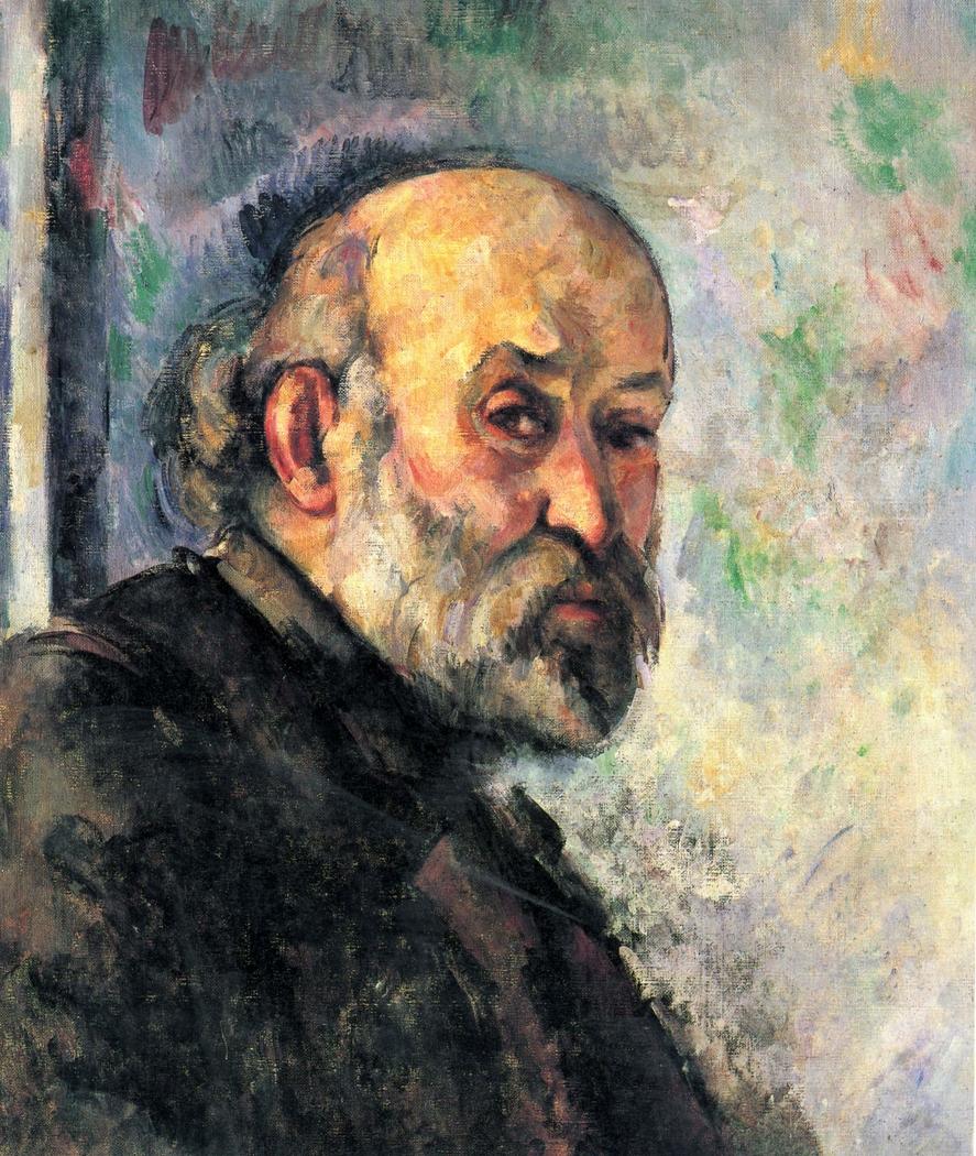 Portrait de Cézanne sur fond bleu (Self-portrait on blue background)