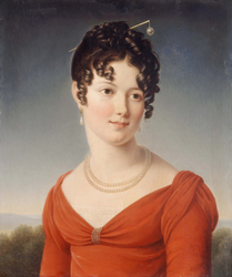 Portrait en buste d'Alexandrine-Anne de la Pallu, marquise de Flers (1786-1832)