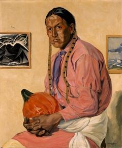 Portrait of a Man with a Pumpkin