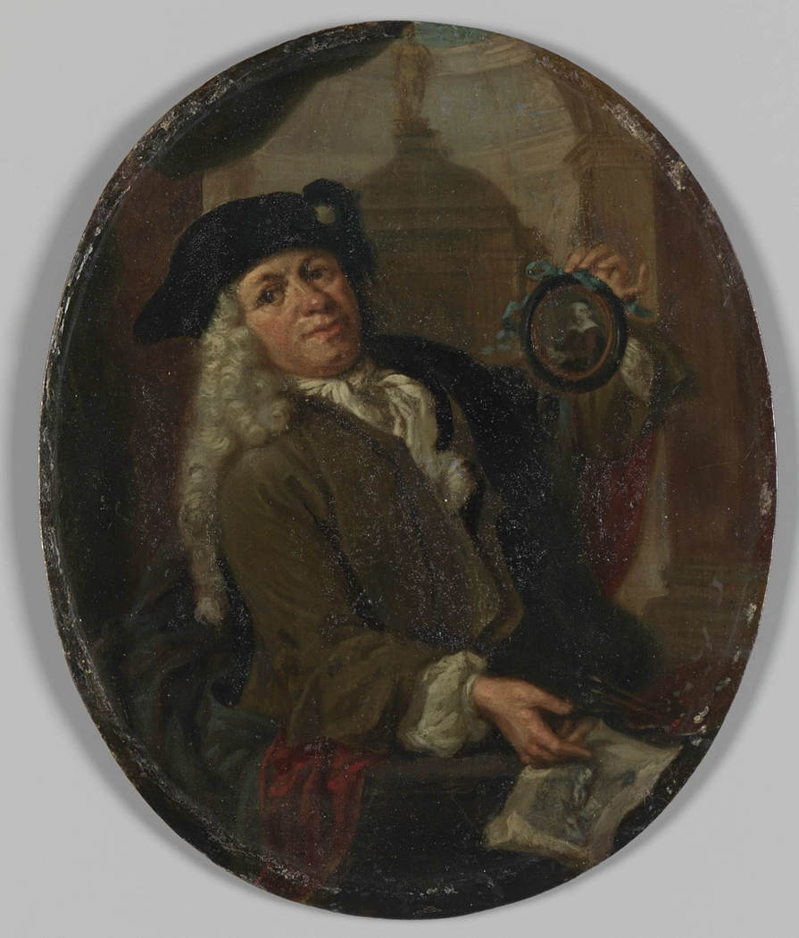 Portrait of Arnoud van Halen, Painter, Printmaker, Poet and Collector in Amsterdam