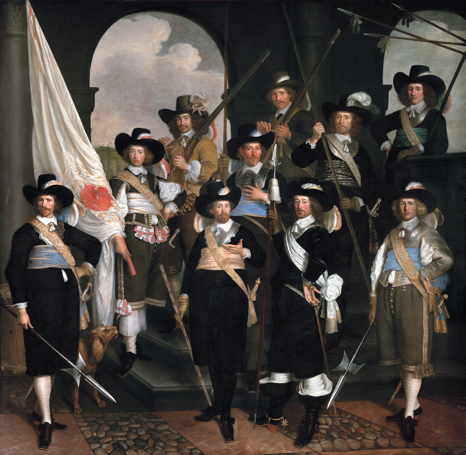 Portrait of Civic Guard Hoorn; the company of captain Claes Willemsz Jager