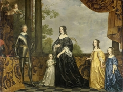 Portrait of Frederik Hendrik (1584-1647), Prince of Orange, his Wife Amalia van Solms (1602-1675) and their three youngest Daughters Albertina Agnes (1634-1696), Henrietta Catharina (1637-1708), and Maria (1642-1688)