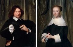 Portrait of Jan Hendrik Lestevenon, husband of Esther Bary (1630-1696), ca. 1652