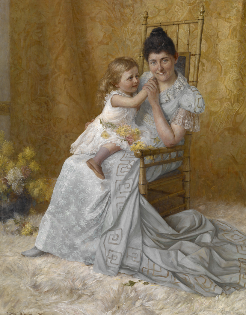 Portrait of Martha Wysor Marsh and Son John Edwin