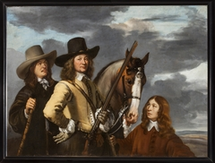 Portrait of Willem Everwijn with his Horse and Two Huntsmen