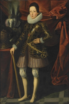 Portrait of young Ferdinand II de' Medici (1610-1670), Grand Duke of Tuscany, in armour
