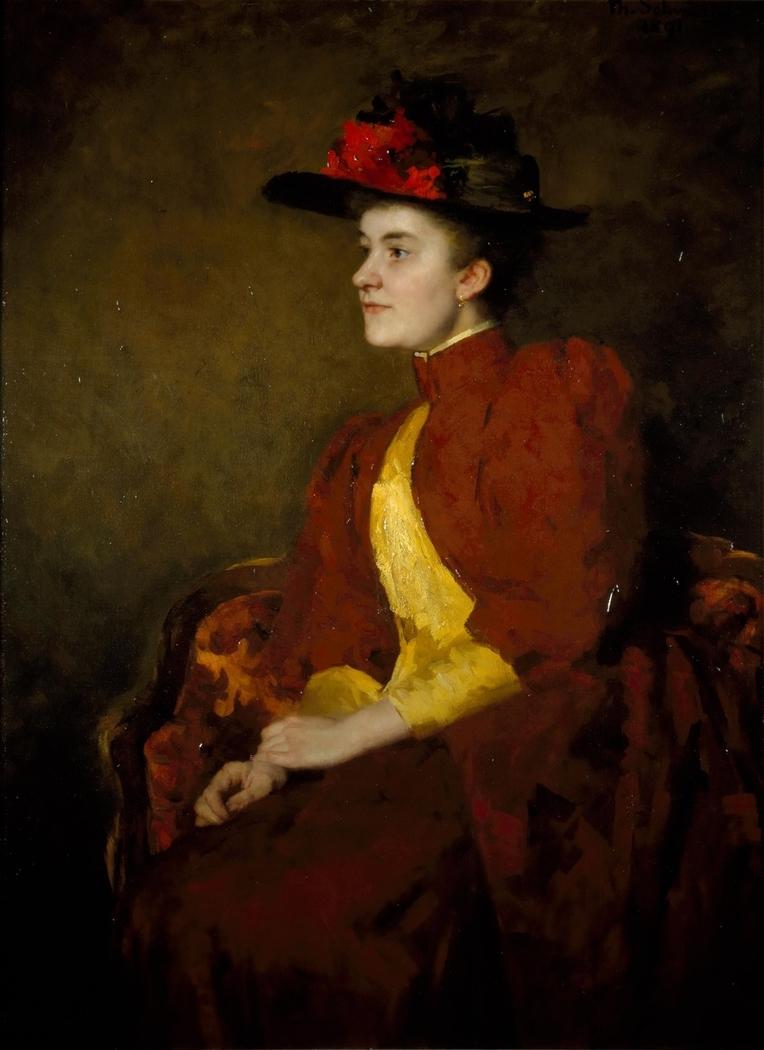 Portret van Henriëtte Antoinette de Bordes-Van Walré (1870-1938)