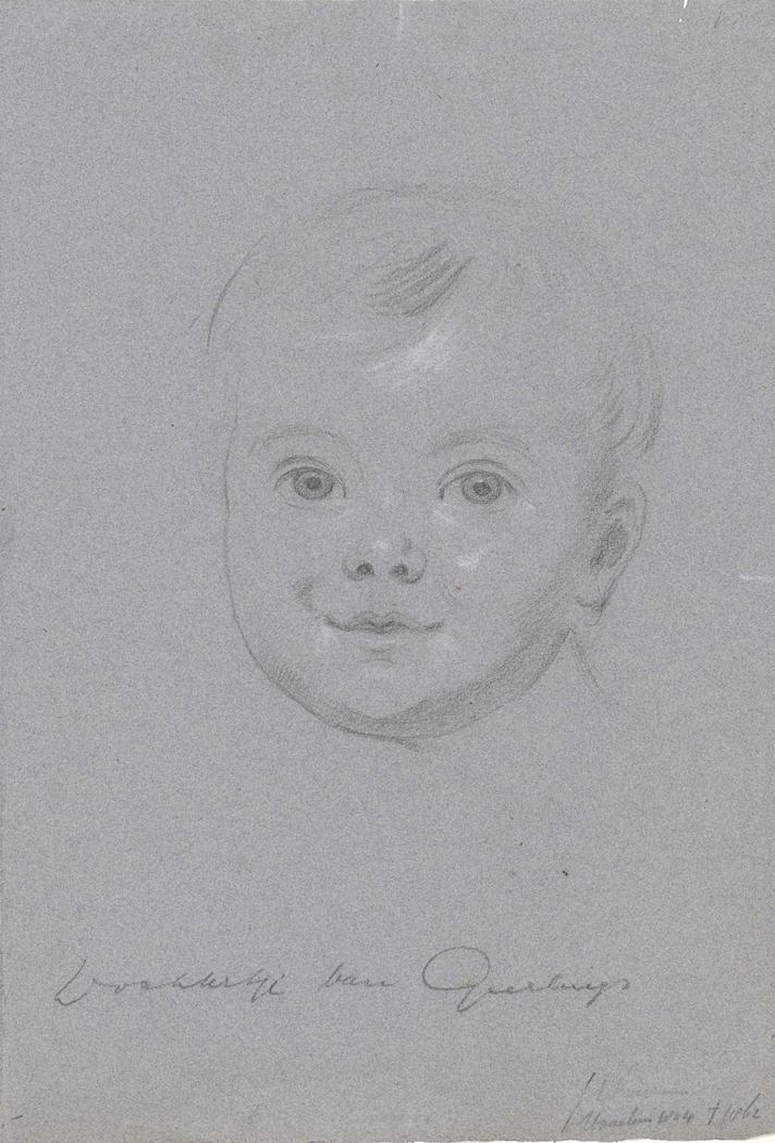 Portret van het dochtertje van Geerlings