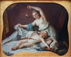 Psyché reconnaissant l'amour endormi