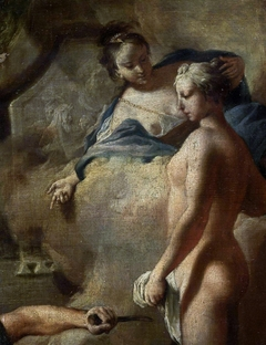 Pygmalion at work (detail).