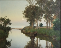 Quiet Summer Evening by the River Mouth