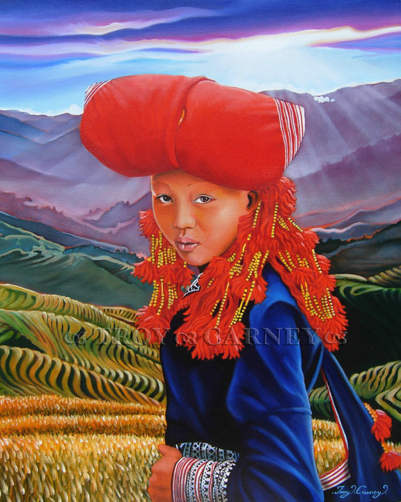 Red Dzao Mien Of Northern Vietnam Troy Carney Artwork On Useum