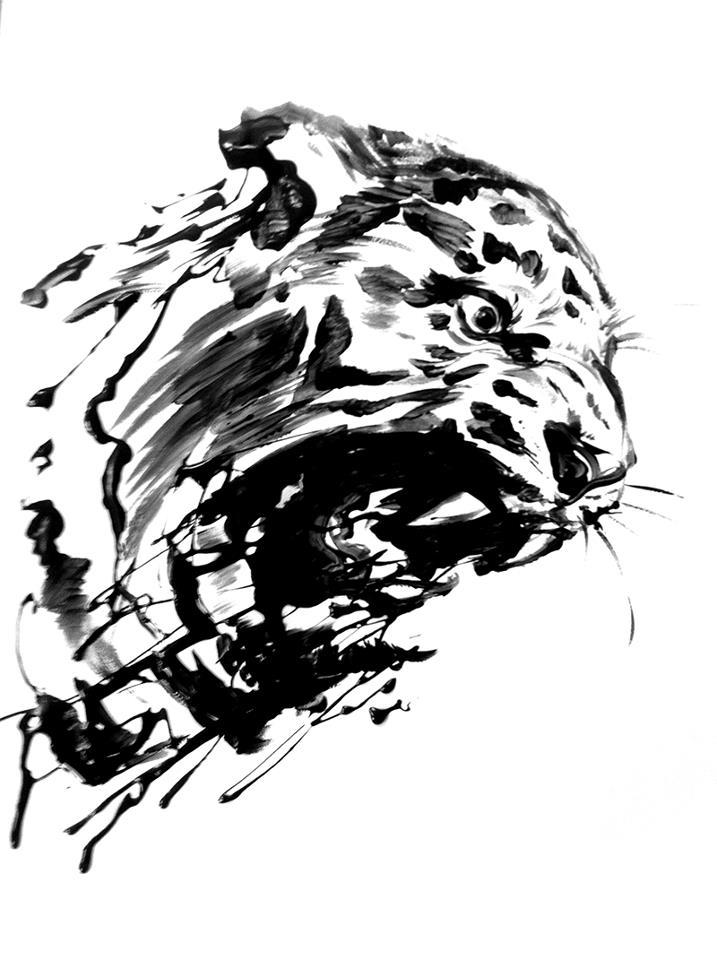 포효하는 호랑이 / Roar of a tiger