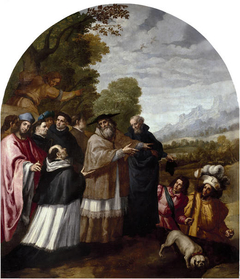 Saint Hugo Accompanies Saint Bruno and His Six Companions to the Chartreuse Highlands