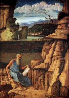 Saint Jerome reading in a Landscape