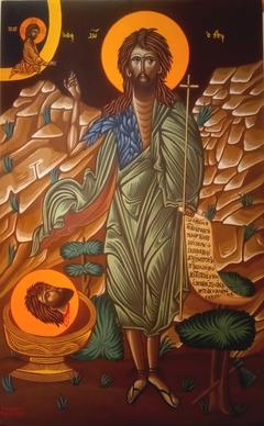 Saint John the Baptist - Egg tempera on wood