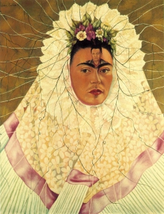 Self-Portrait as a Tehuana or Diego on My Mind