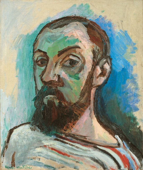 Self-Portrait in a Striped T-shirt